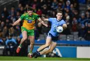 22 February 2020; Brian Fenton of Dublin in action against Daire Ó Baoill of Donegal during the Allianz Football League Division 1 Round 4 match between Dublin and Donegal at Croke Park in Dublin. Photo by Sam Barnes/Sportsfile
