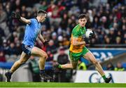 22 February 2020; Michael Langan of Donegal in action against Brian Fenton of Dublin during the Allianz Football League Division 1 Round 4 match between Dublin and Donegal at Croke Park in Dublin. Photo by Eóin Noonan/Sportsfile