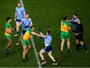 22 February 2020; Donegal and Dublin players, including Michael Murphy of Donegal and Paddy Small of Dublin, tussle during the Allianz Football League Division 1 Round 4 match between Dublin and Donegal at Croke Park in Dublin. Photo by Harry Murphy/Sportsfile