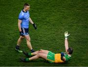 22 February 2020; Michael Murphy of Donegal reacts after a tussle with John Small of Dublin during the Allianz Football League Division 1 Round 4 match between Dublin and Donegal at Croke Park in Dublin. Photo by Harry Murphy/Sportsfile