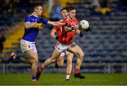 22 February 2020; Cathail O'Mahony of Cork in action against Alan Campbell of Tipperary during the Allianz Football League Division 3 Round 4 match between Tipperary and Cork at Semple Stadium in Thurles, Tipperary. Photo by Piaras Ó Mídheach/Sportsfile