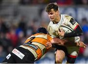22 February 2020; Louis Ludik of Ulster is tackled by Wilmar Arnoldi of Toyota Cheetahs during the Guinness PRO14 Round 12 match between Ulster and Toyota Cheetahs at Kingspan Stadium in Belfast.  Photo by Oliver McVeigh/Sportsfile
