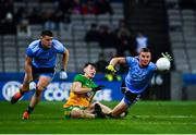 22 February 2020; Ciarán Kilkenny of Dublin, right, supported by Brian Howard, in action against Michael Langan of Donegal during the Allianz Football League Division 1 Round 4 match between Dublin and Donegal at Croke Park in Dublin. Photo by Sam Barnes/Sportsfile