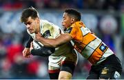 22 February 2020; Louis Ludik of Ulster is tackled by Craig Barry of Toyota Cheetahs during the Guinness PRO14 Round 12 match between Ulster and Toyota Cheetahs at Kingspan Stadium in Belfast.  Photo by Oliver McVeigh/Sportsfile