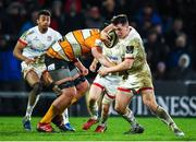 22 February 2020; James Hume of Ulster is tackled by Walt Steenkamp of Toyota Cheetahs during the Guinness PRO14 Round 12 match between Ulster and Toyota Cheetahs at Kingspan Stadium in Belfast.  Photo by Oliver McVeigh/Sportsfile