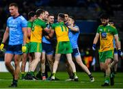 22 February 2020; John Small, centre, and Paddy Small, right, both of Dublin, tussle with Hugh McFadden and Ciarán Thompson of Donegal during the Allianz Football League Division 1 Round 4 match between Dublin and Donegal at Croke Park in Dublin. Photo by Sam Barnes/Sportsfile