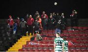 22 February 2020; Longford Town supporters during the SSE Airtricity League First Division match between Longford Town and Shamrock Rovers II at Bishopsgate in Longford. Photo by Stephen McCarthy/Sportsfile