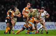 22 February 2020; Alan O'Connor of Ulster is tackled by Benhard Janse van Rensburg of Toyota Cheetahs during the Guinness PRO14 Round 12 match between Ulster and Toyota Cheetahs at Kingspan Stadium in Belfast.  Photo by Oliver McVeigh/Sportsfile