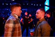 22 February 2020; Boxer Carl Frampton, right, and MMA fighter James Gallagher at Bellator Dublin in the 3 Arena, Dublin. Photo by David Fitzgerald/Sportsfile