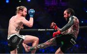 22 February 2020; Aaron Chalmers, right, and Austin Clem during their welterweight bout at Bellator Dublin in the 3 Arena, Dublin. Photo by David Fitzgerald/Sportsfile