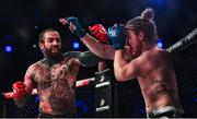 22 February 2020; Aaron Chalmers, left, and Austin Clem during their welterweight bout at Bellator Dublin in the 3 Arena, Dublin. Photo by David Fitzgerald/Sportsfile