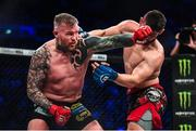 22 February 2020; Charlie Ward, left, and Kyle Kurtz during their middleweight bout at Bellator Dublin in the 3 Arena, Dublin. Photo by David Fitzgerald/Sportsfile