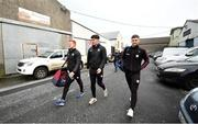 23 February 2020; Galway players arrive as they walk to the stadium rather than take the bus prior to the Allianz Football League Division 1 Round 4 match between Galway and Tyrone at Tuam Stadium in Tuam, Galway.  Photo by David Fitzgerald/Sportsfile