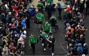 23 February 2020; Ireland players arrive prior to the Guinness Six Nations Rugby Championship match between England and Ireland at Twickenham Stadium in London, England. Photo by Brendan Moran/Sportsfile