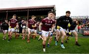 23 February 2020; Galway players break from their team photo prior to the Allianz Football League Division 1 Round 4 match between Galway and Tyrone at Tuam Stadium in Tuam, Galway.  Photo by David Fitzgerald/Sportsfile