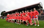 23 February 2020; Tyrone players pose for a team photo prior to the Allianz Football League Division 1 Round 4 match between Galway and Tyrone at Tuam Stadium in Tuam, Galway.  Photo by David Fitzgerald/Sportsfile