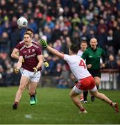 23 February 2020; Gary O'Donnell of Galway in action against Liam Rafferty of Tyrone during the Allianz Football League Division 1 Round 4 match between Galway and Tyrone at Tuam Stadium in Tuam, Galway.  Photo by David Fitzgerald/Sportsfile