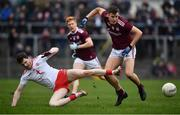 23 February 2020; Robert Finnerty of Galway in action against Rory Brennan of Tyrone during the Allianz Football League Division 1 Round 4 match between Galway and Tyrone at Tuam Stadium in Tuam, Galway.  Photo by David Fitzgerald/Sportsfile