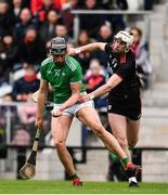 23 February 2020; Gearoid Hegarty of Limerick in action against Tim O'Mahony of Cork during the Allianz Hurling League Division 1 Group A Round 4 match between Cork and Limerick at Páirc Uí Chaoimh in Cork. Photo by Sam Barnes/Sportsfile