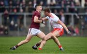 23 February 2020; Johnny Heaney of Galway in action against Brian Kennedy of Tyrone during the Allianz Football League Division 1 Round 4 match between Galway and Tyrone at Tuam Stadium in Tuam, Galway.  Photo by David Fitzgerald/Sportsfile