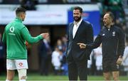 23 February 2020; Ireland captain Jonathan Sexton and Ireland head coach Andy Farrell in conversation with referee Jaco Peyper during the Guinness Six Nations Rugby Championship match between England and Ireland at Twickenham Stadium in London, England. Photo by Ramsey Cardy/Sportsfile Photo by Ramsey Cardy/Sportsfile