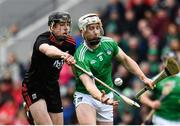 23 February 2020; Cian Lynch of Limerick in action against Robert Downey of Cork during the Allianz Hurling League Division 1 Group A Round 4 match between Cork and Limerick at Páirc Uí Chaoimh in Cork. Photo by Sam Barnes/Sportsfile