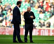 23 February 2020; Ireland head coach Andy Farrell speaks with England head coach Eddie Jones prior to the Guinness Six Nations Rugby Championship match between England and Ireland at Twickenham Stadium in London, England. Photo by Brendan Moran/Sportsfile Photo by Brendan Moran/Sportsfile