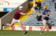 23 February 2020; Cian Darcy of Tipperary in action against Conor Shaw of Westmeath during the Allianz Hurling League Division 1 Group A Round 4 match between Tipperary and Westmeath at Semple Stadium in Thurles, Co Tipperary.  Photo by Michael P Ryan/Sportsfile