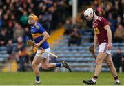23 February 2020; Cian Darcy of Tipperary celebrates after scoring his sides first goal during the Allianz Hurling League Division 1 Group A Round 4 match between Tipperary and Westmeath at Semple Stadium in Thurles, Co Tipperary.  Photo by Michael P Ryan/Sportsfile