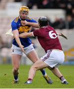 23 February 2020; Aonghus Clarke of Westmeath in action against Cian Darcy of Tipperary during the Allianz Hurling League Division 1 Group A Round 4 match between Tipperary and Westmeath at Semple Stadium in Thurles, Co Tipperary. Photo by Michael P Ryan/Sportsfile