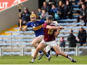23 February 2020; Liam Varley of Westmeath  in action against Mark Kehoe of Tipperary during the Allianz Hurling League Division 1 Group A Round 4 match between Tipperary and Westmeath at Semple Stadium in Thurles, Co Tipperary. Photo by Michael P Ryan/Sportsfile
