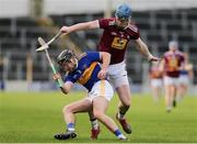 23 February 2020; Alan Flynn of Tipperary in action against Tommy Doyle of Westmeath during the Allianz Hurling League Division 1 Group A Round 4 match between Tipperary and Westmeath at Semple Stadium in Thurles, Co Tipperary. Photo by Michael P Ryan/Sportsfile