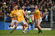 23 February 2020; Paul Geaney of Kerry in action against David Toner, Ronan Ryan and Robin Clarke of Meath during the Allianz Football League Division 1 Round 4 match between Kerry and Meath at Fitzgerald Stadium in Killarney, Kerry. Photo by Diarmuid Greene/Sportsfile