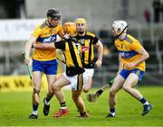 23 February 2020; Eoin Guilfoyle of Clare, with Ryan Taylor in support, is tackled by Darren Mullen of Kilkenny during the Allianz Hurling League Division 1 Group B Round 4 match between Kilkenny and Clare at UPMC Nowlan Park in Kilkenny. Photo by Ray McManus/Sportsfile