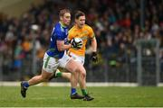 23 February 2020; Stephen O'Brien of Kerry in action against Bryan McMahon of Meath during the Allianz Football League Division 1 Round 4 match between Kerry and Meath at Fitzgerald Stadium in Killarney, Kerry. Photo by Diarmuid Greene/Sportsfile