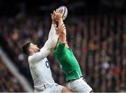 23 February 2020; Andrew Conway of Ireland in action against Elliot Daly of England during the Guinness Six Nations Rugby Championship match between England and Ireland at Twickenham Stadium in London, England. Photo by Ramsey Cardy/Sportsfile Photo by Ramsey Cardy/Sportsfile