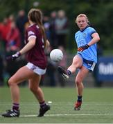 23 February 2020; Carla Rowe of Dublin in action against Ailbhe Davoren of Galway during the 2020 Lidl Ladies National Football League Division 1 Round 4 match between Dublin and Galway at Dublin City University Sportsgrounds in Glasnevin, Dublin. Photo by Piaras Ó Mídheach/Sportsfile