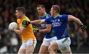 23 February 2020; Donal Keogan of Meath in action against Stephen O'Brien and Shane Enright of Kerry during the Allianz Football League Division 1 Round 4 match between Kerry and Meath at Fitzgerald Stadium in Killarney, Kerry. Photo by Diarmuid Greene/Sportsfile