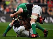 23 February 2020; James Ryan of Ireland tussles with Maro Itoje of England during the Guinness Six Nations Rugby Championship match between England and Ireland at Twickenham Stadium in London, England. Photo by Brendan Moran/Sportsfile Photo by Brendan Moran/Sportsfile