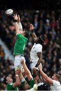 23 February 2020; Peter O'Mahony of Ireland and Maro Itoje of England battle for possession in the lineout during the Guinness Six Nations Rugby Championship match between England and Ireland at Twickenham Stadium in London, England. Photo by Ramsey Cardy/Sportsfile Photo by Ramsey Cardy/Sportsfile