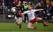 23 February 2020; Frank Burns of Tyrone tackles Shane Walsh of Galway for which he was subsequently shown a second yellow card during the Allianz Football League Division 1 Round 4 match between Galway and Tyrone at Tuam Stadium in Tuam, Galway.  Photo by David Fitzgerald/Sportsfile