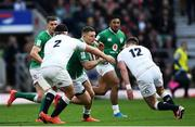 23 February 2020; Andrew Conway of Ireland is tackled by Jamie George and Owen Farrell of England during the Guinness Six Nations Rugby Championship match between England and Ireland at Twickenham Stadium in London, England. Photo by Ramsey Cardy/Sportsfile Photo by Ramsey Cardy/Sportsfile