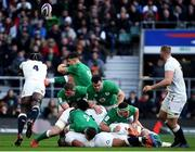 23 February 2020; Maro Itoje of England charges down a box kick from Conor Murray of Ireland during the Guinness Six Nations Rugby Championship match between England and Ireland at Twickenham Stadium in London, England. Photo by Ramsey Cardy/Sportsfile Photo by Ramsey Cardy/Sportsfile