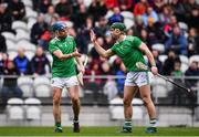 23 February 2020; Aaron Costello, left, and Sean Finn of Limerick celebrate following the Allianz Hurling League Division 1 Group A Round 4 match between Cork and Limerick at Páirc Uí Chaoimh in Cork. Photo by Sam Barnes/Sportsfile