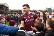 23 February 2020; Damien Comer of Galway is congratulated by supporters following the Allianz Football League Division 1 Round 4 match between Galway and Tyrone at Tuam Stadium in Tuam, Galway.  Photo by David Fitzgerald/Sportsfile