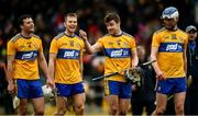 23 February 2020; Clare players Jack Browne, left, Shane O'Donnell, Tony Kelly and Diarmuid Ryan after the Allianz Hurling League Division 1 Group B Round 4 match between Kilkenny and Clare at UPMC Nowlan Park in Kilkenny. Photo by Ray McManus/Sportsfile