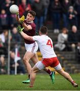 23 February 2020; Michael Daly of Galway in action against Liam Rafferty of Tyrone during the Allianz Football League Division 1 Round 4 match between Galway and Tyrone at Tuam Stadium in Tuam, Galway.  Photo by David Fitzgerald/Sportsfile