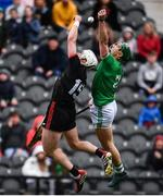 23 February 2020; Sean Finn of Limerick and Patrick Horgan of Cork contest a high ball during the Allianz Hurling League Division 1 Group A Round 4 match between Cork and Limerick at Páirc Uí Chaoimh in Cork. Photo by Sam Barnes/Sportsfile