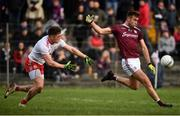 23 February 2020; Paul Conroy of Galway in action against Liam Rafferty of Tyrone during the Allianz Football League Division 1 Round 4 match between Galway and Tyrone at Tuam Stadium in Tuam, Galway.  Photo by David Fitzgerald/Sportsfile