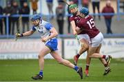 23 February 2020; Austin Gleeson of Waterford comes away with the sliotar as team-mates Niall Burke, left, and Conor Cooney of Galway collide during the Allianz Hurling League Division 1 Group A Round 4 match between Waterford and Galway at Walsh Park in Waterford. Photo by Seb Daly/Sportsfile